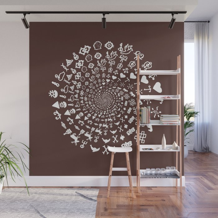 For The Love Of Chocolate Symbols Mandala Wall Mural