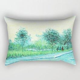 Van Gogh : Park in Asnieres Rectangular Pillow