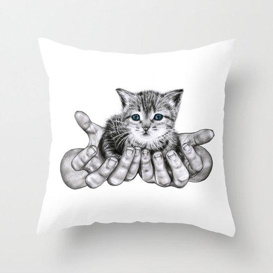 Possession // Graphite Throw Pillow