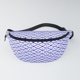 Simply bluewhite pattern ... Fanny Pack