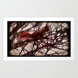 Squirrel glass IV Art Print