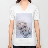 child V-neck T-shirts featuring Child by Haram Ahn