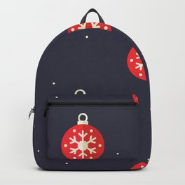 Red Christmas Ornament Pattern Backpack