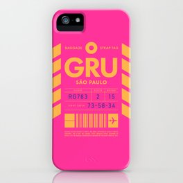 Baggage Tag D - GRU Sao Paulo Guarulhos Brazil iPhone Case