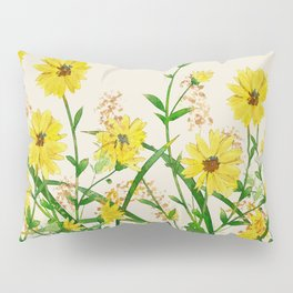 Yellow Wildflowers Pillow Sham