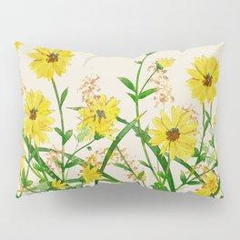 Yellow Wildflowers Pillow Sham