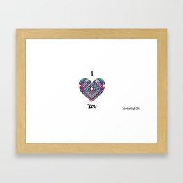 Valentine's Day -Aztec Wild Hearts Can't be broken Framed Art Print