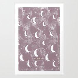 Many Moons - Lavender Art Print