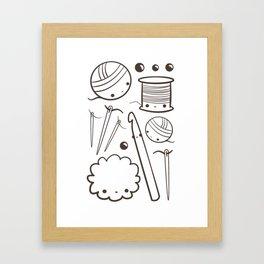 crochet cute - kawaii craft supplies Framed Art Print