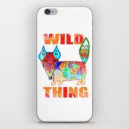 Wild thing - fox iPhone Skin