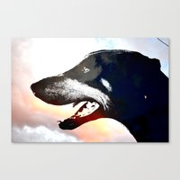 caleb troy Canvas Prints featuring Troy by Jake Stanton