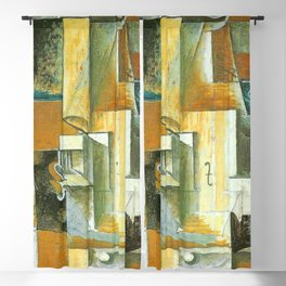 Pablo Picasso Table with Violin and Glasses Blackout Curtain