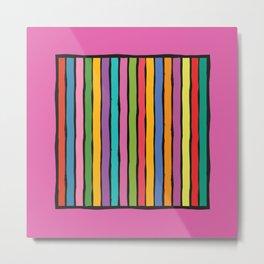 dp203-10 Colorful Stripes Metal Print