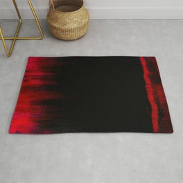 Red and Black Abstract Rug