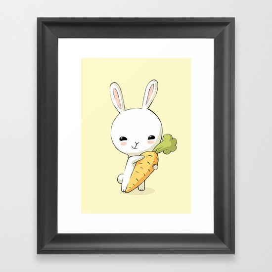 Bunny Carrot 2 Framed Art Print