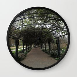 Through the Trellis Wall Clock