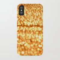 glitter iPhone & iPod Cases featuring Gold Glitter Sparkles by Whimsy Romance & Fun