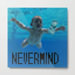 Nevermind - Legobricks Metal Print