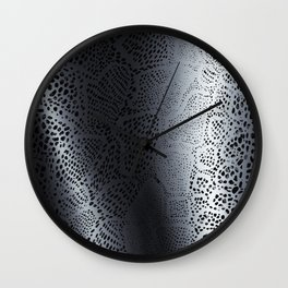 Gray Snake Skin Wall Clock