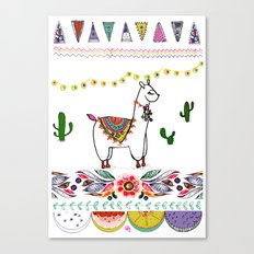 Llama Illustration Canvas Print