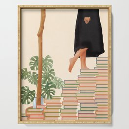 Books Serving Tray