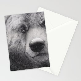 Bear Charcoal Stationery Cards