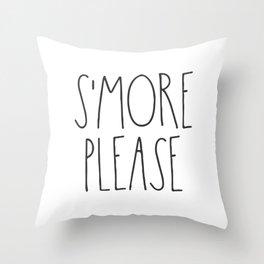 S'more Please Throw Pillow