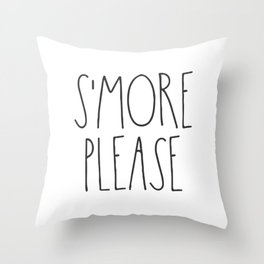 S'more Please Throw Pillow