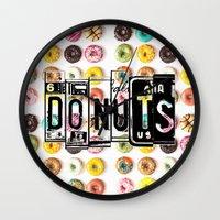 donuts Wall Clocks featuring DONUTS by Vertigo