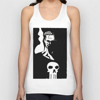 punisher Tank Tops featuring Inktober Punisher by MeatyElbow