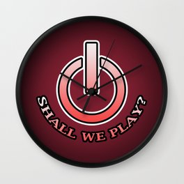 Shall We Play?- Red Wall Clock