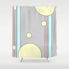 Bubble Stripe Curtains Shower Curtain