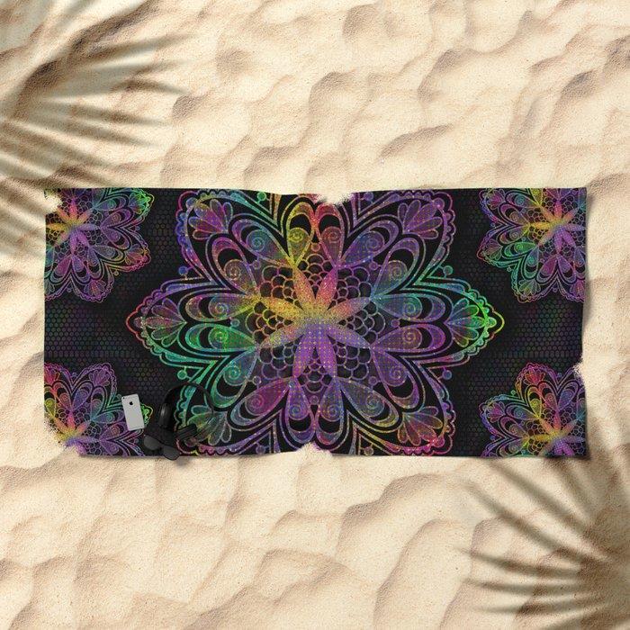 Kaleidoscope Mandala Beach Towel