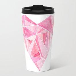Pink Heart Travel Mug