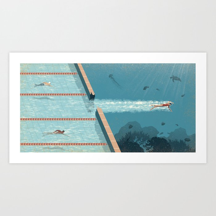Comfort Zone Art Print By Davidebonazzi Society6