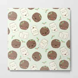 Cute Cookies and Milk for you! Metal Print