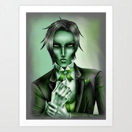 Claude in Green Art Print