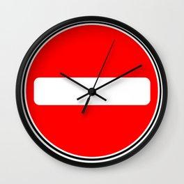 No Entry Sign Wall Clock