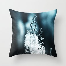 Blue Ghost Throw Pillow