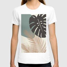 Minimal Monstera Palm Finesse #1 #tropical #decor #art #society6 T-shirt
