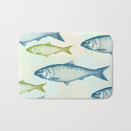 Vintage fish bath mat by jacqueline maldonado society6 for Fish bath rug