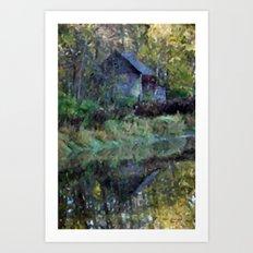 River Shed Art Print