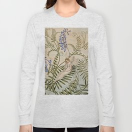 """Fairy Resting Among Flowers"" by Amelia Jane Murray Long Sleeve T-shirt"