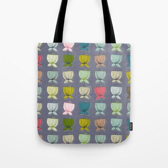 flower cups amethyst art Tote Bag