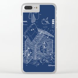 Trojan Rabbit Clear iPhone Case