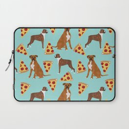 Boxer dog pattern pizza dog lover pet portraits boxers dog breed by pet friendly Laptop Sleeve