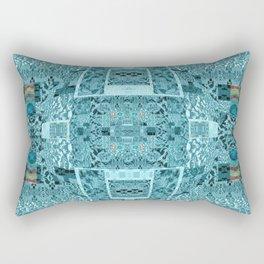 Abstract Blue Landscape Rectangular Pillow