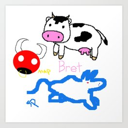 Bret, Matt, and Stephen's Oxen Art Print