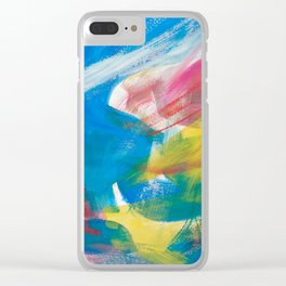 Abstract Artwork Colourful #4 Clear iPhone Case
