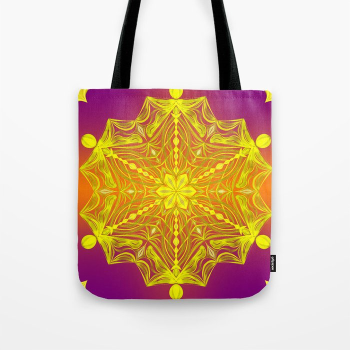 Snowflake Sunset Tote Bag